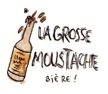 Grosse moustache (étiquette de bouteille)